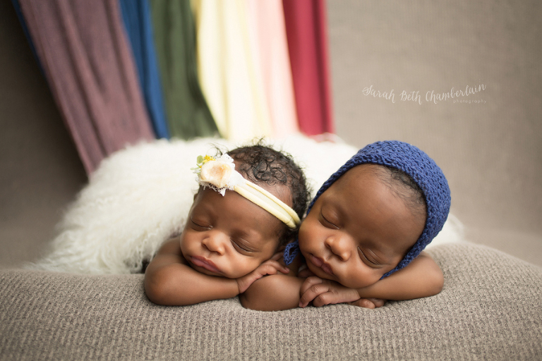 Twins double rainbow babies newborn photographer baby photography anchorage alaska