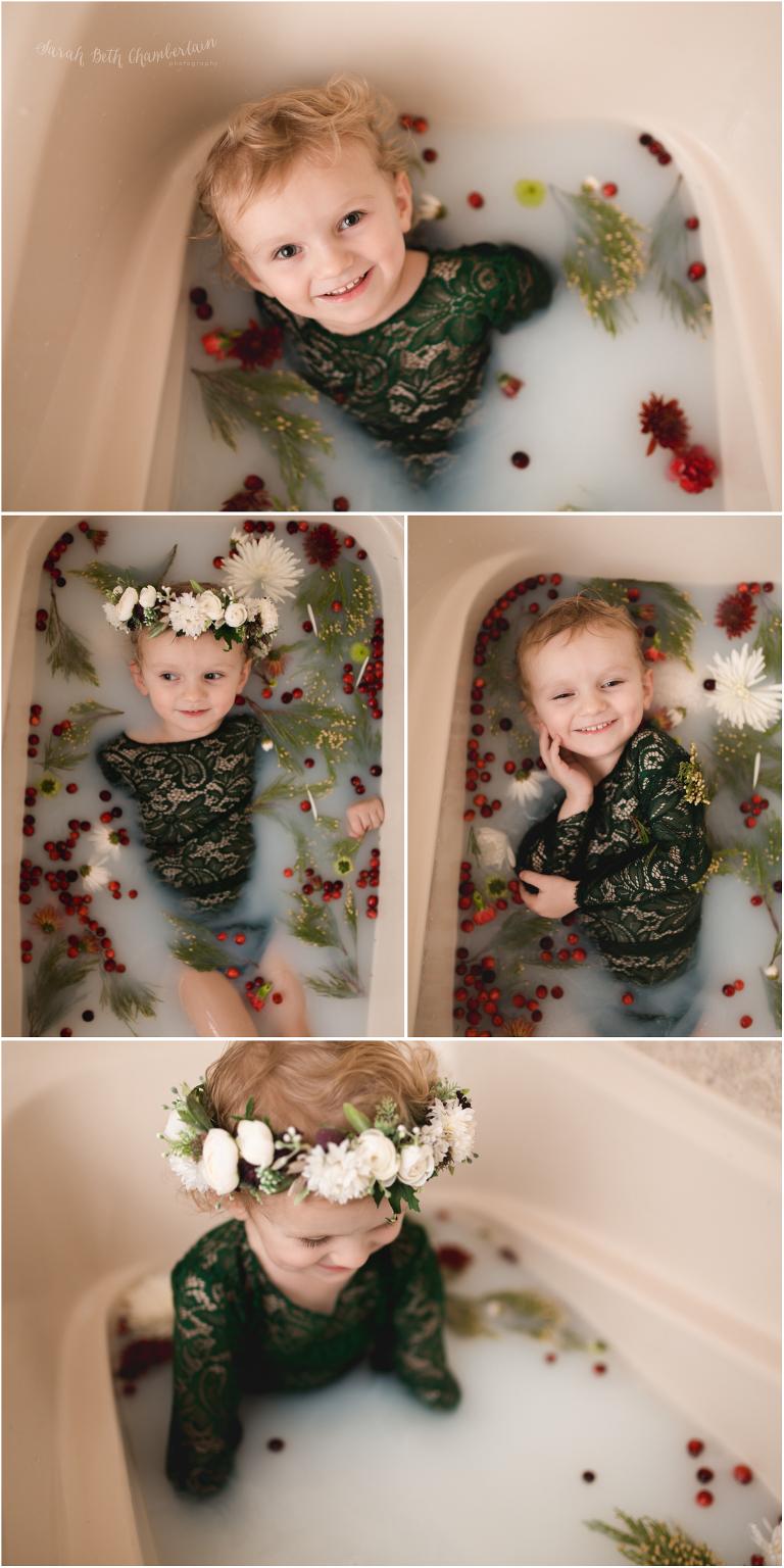 Milk bath session north las vegas photographer child family photography maternity portraits