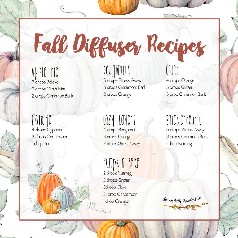 Fall Diffuser Recipes