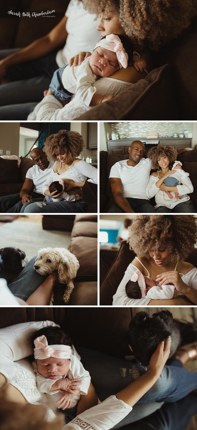 Lucky | Lifestyle Newborn Session | Las Vegas Family & Newborn Photographer | Family Videography | Newborn Film | Baby Photos | Breastfeeding | Motherhood
