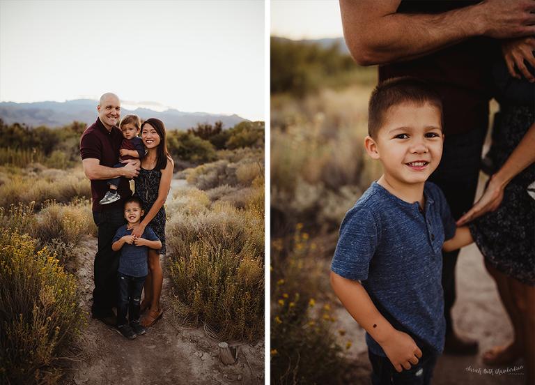 Vanderbilt Family | Family Pictures | Las Vegas Family Photographer | Outdoor Portraits | Desert Backdrop | Young Children | Toddlers | Las Vegas Parents
