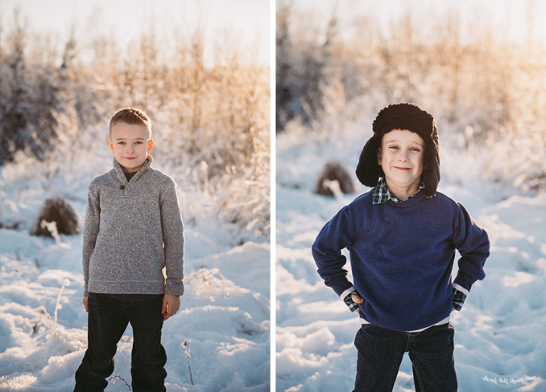 Winter Portraits | Las Vegas Family & Baby Photographer | Child Photography | Christmas Photos | Snow | Brothers | Anchorage Photographer