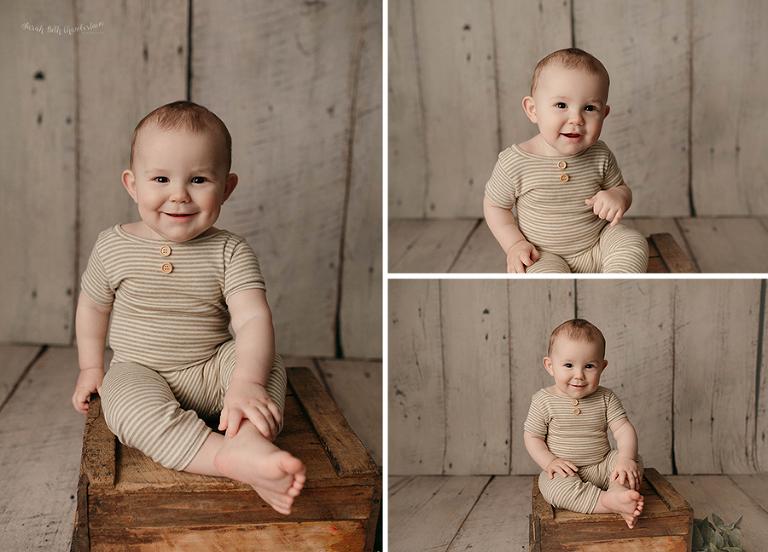 Baby Milestone   Las Vegas Baby Photographer   Baby Boy   Baby Boy Playsuit   Baby Clothes   Photography Studio   Portrait Studio
