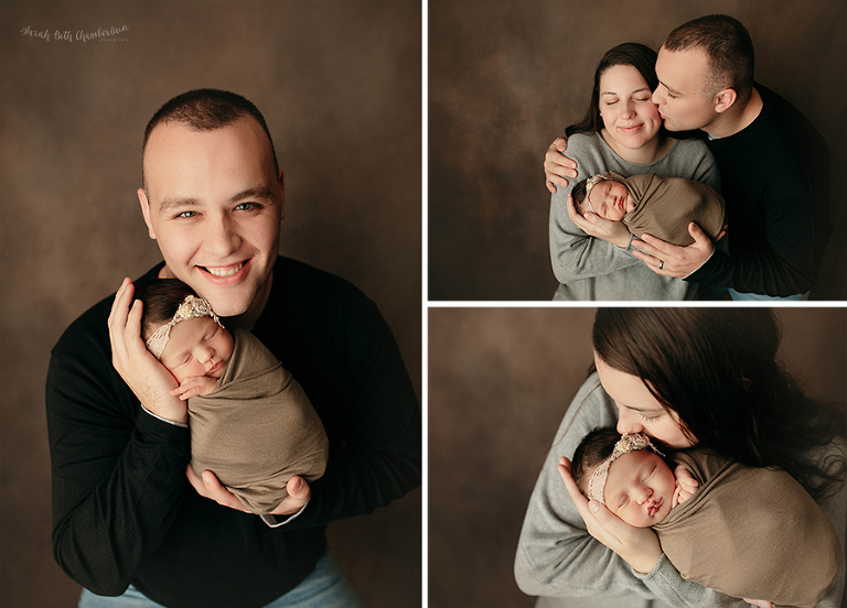 Eleanor {Newborn Session} | Las Vegas Newborn Photographers | Baby Photos | Newborn Photography Studio | Baby Girl | Newborn Hair | Parent Poses