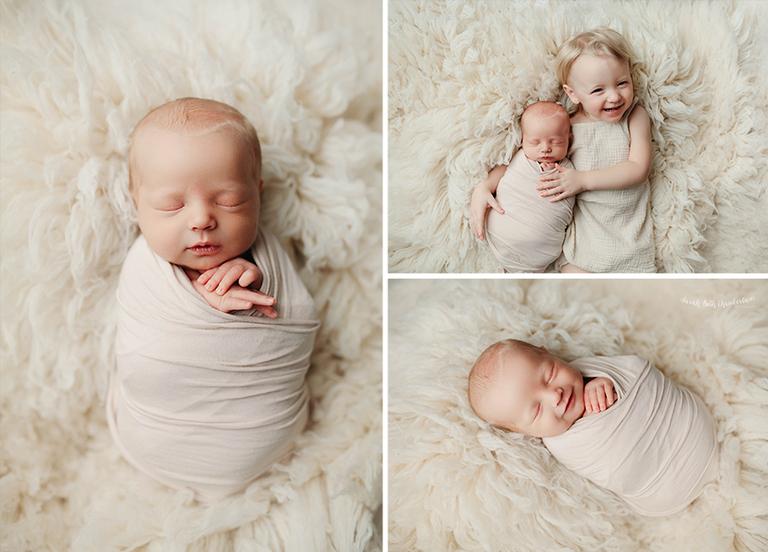 Las Vegas Newborn Photographer | Baby Photography | Posed Newborn | Baby Girl | Baby Portrait Studio | Siblings | Big Sister